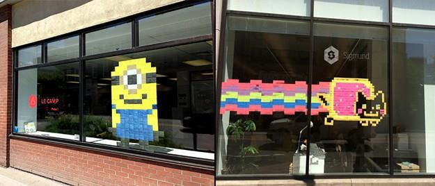 St-Roch Post-it War : Le Camp