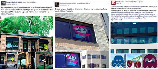 Post-it war sur Facebook