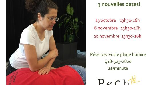 Massages sur table