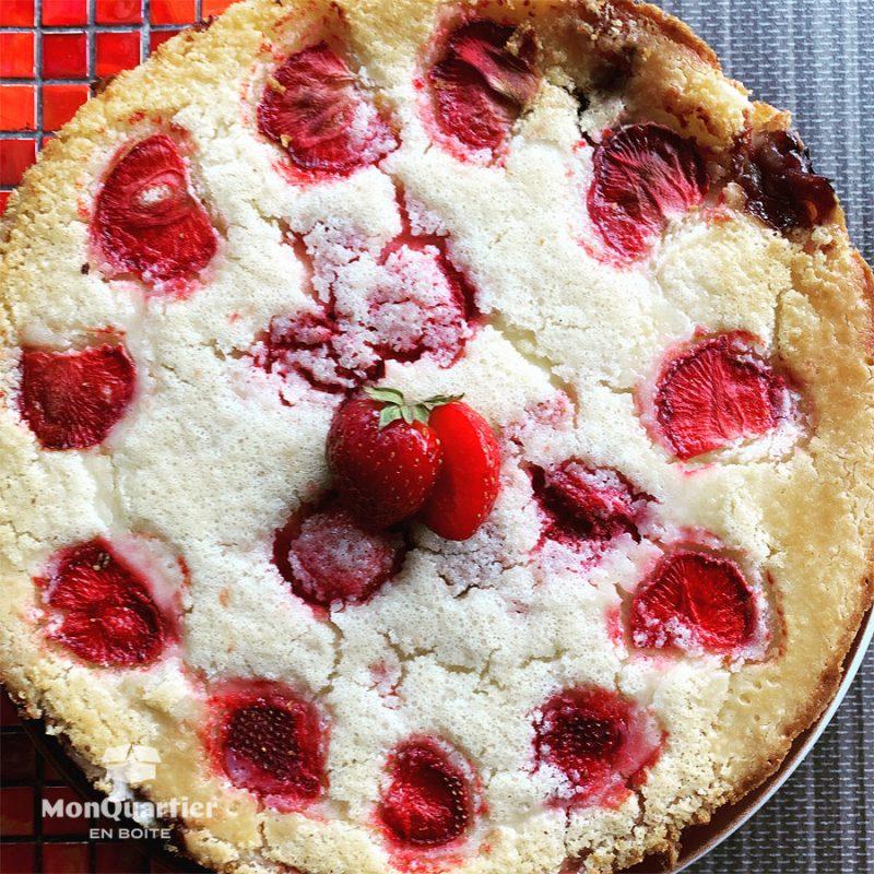 Tarte fraise, rhubarbe et vanille