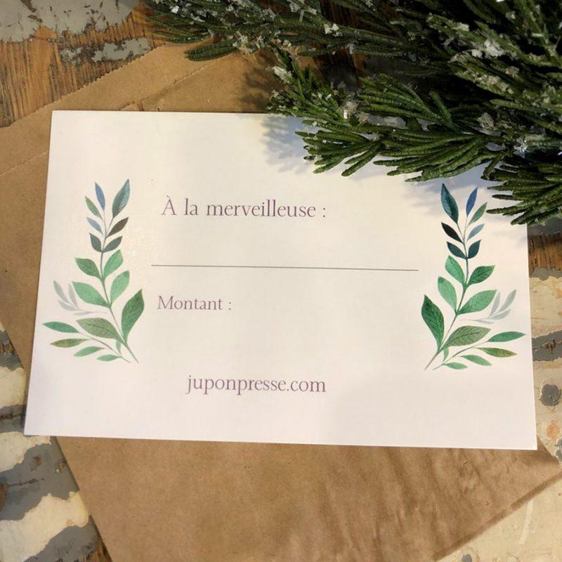 Certificat cadeau Jupon Pressé