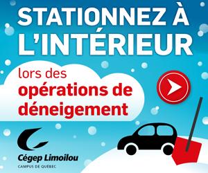 Stationnez au Cégep cet hiver   Cégep Limoilou