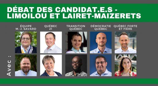 Débat des candidat.e.s dans Limoilou - Maizerets - Lairet