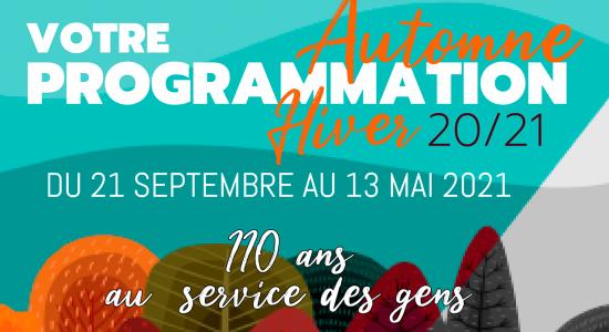 Inscription programmation automne 2020