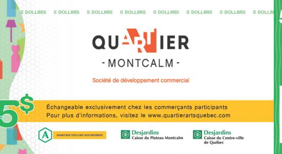 Dollars Quartier Montcalm | SDC Montcalm – Quartier des arts de Québec