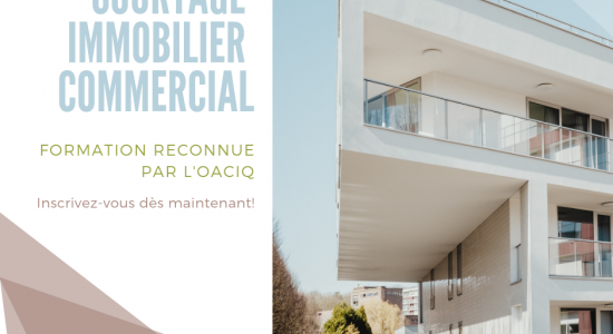 FORMATION | Courtage immobilier commercial