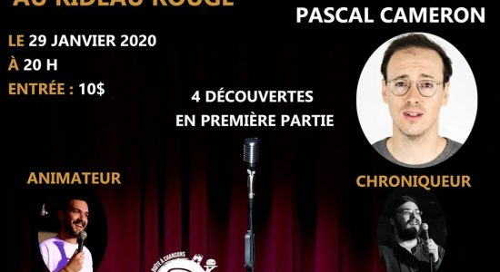 Pascal Cameron au Rideau Rouge