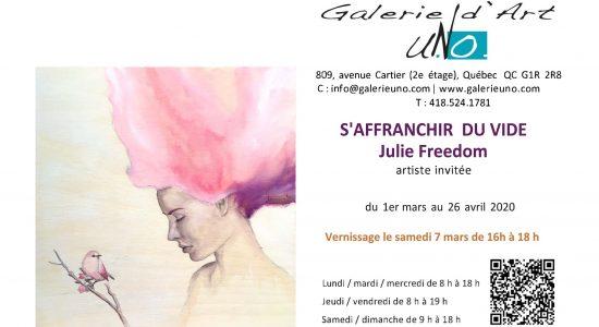 S'affranchir du vide | Artiste invitée : Julie Freedom