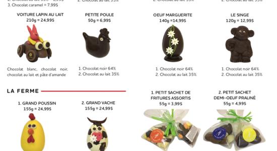 Livraison de chocolats de Pâques | Moulins La Fayette (Les)