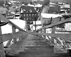 Saint-Roch dans les années 1950 (4) : l'escalier Lavigueur - Jean Cazes