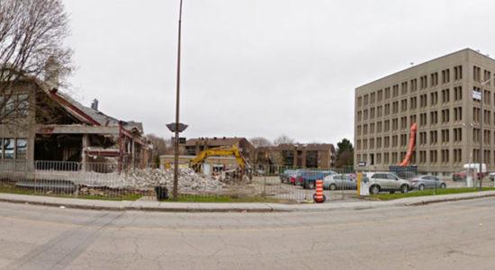 Chantier : démolition d'immeubles sur la rue de la Pointe-aux-Lièvres (1) - Jean Cazes