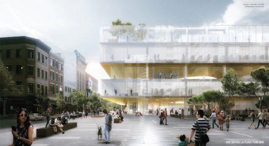 Saucier + Perrotte et GLCRM dessinent une nouvelle bibliothèque Gabrielle-Roy en transparence - Suzie Genest