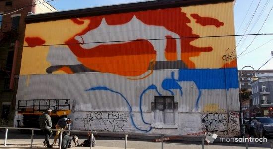 Une murale de Soldevila en cadeau pour les 10 ans du Cercle - Suzie Genest