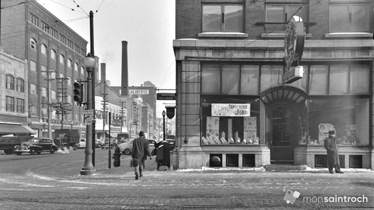 Saint-Roch dans les années 1940 (10) : intersection Charest Est – de la Couronne | 18 février 2018 | Article par Jean Cazes