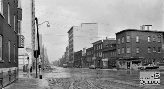 Saint-Roch dans les années 1950 (13) : intersection Dorchester et Charest Est - Jean Cazes