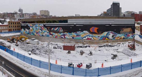 Centre communautaire et sportif municipal de Saint-Roch : amorce du chantier - Jean Cazes