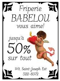Jusqu'à 50% de rabais chez Babelou | Friperie Babelou
