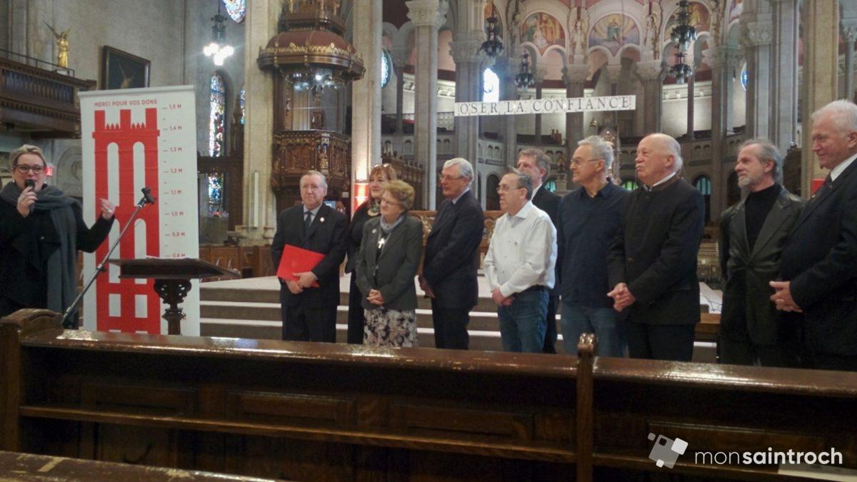 Église Saint-Roch : la campagne de financement dépasse sa cible   22 mars 2018   Article par Suzie Genest