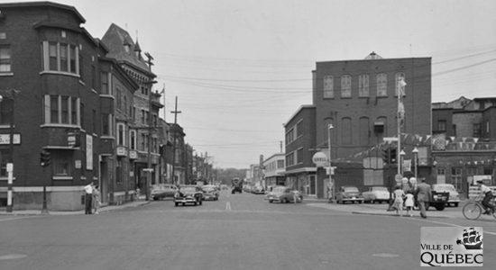Saint-Roch dans les années 1950 (18) : intersection Charest et Dorchester - Jean Cazes