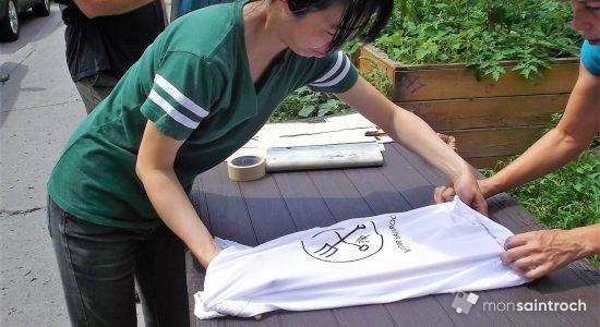 Atelier de sérigraphie DIY au potager de Verdir Saint-Roch