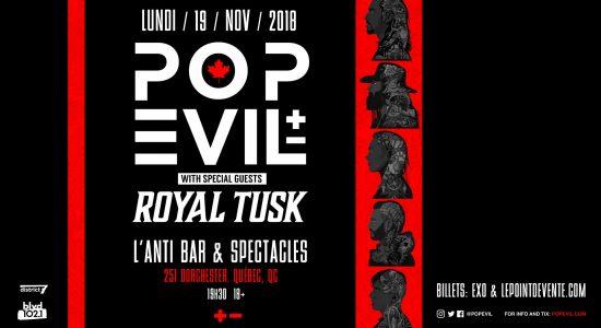 Pop Evil avec Royal Tusk