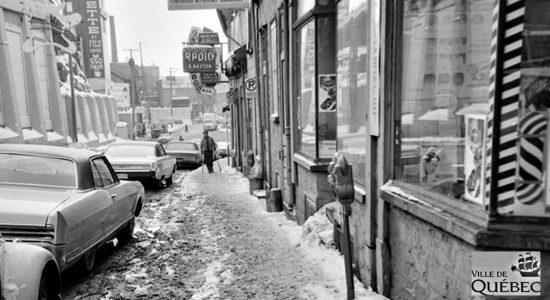Une autre photo d'époque le même jour (11 février 1967), en direction opposée.