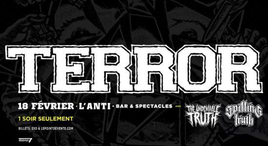 Terror avec The Undeniable Truth et Spitting Truth