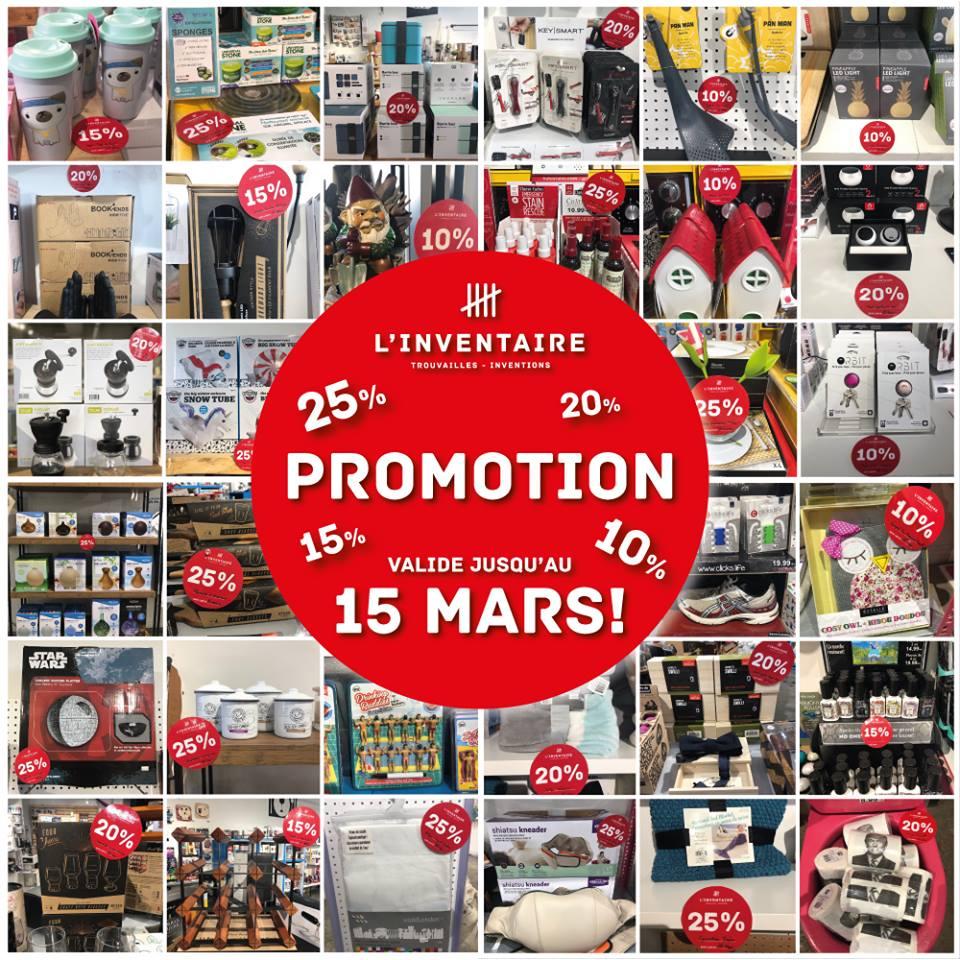 Promo Mars | L'Inventaire