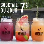 cocktail du jour 7$ - SHAKER St-Joseph - Cuisine & Mixologie