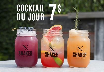 Cocktail du jour 7$ | SHAKER St-Joseph – Cuisine & Mixologie