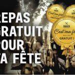 Repas gratuit pour ta fête - SHAKER St-Joseph - Cuisine & Mixologie