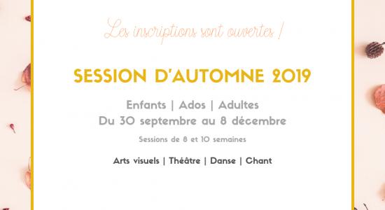 Session d'automne 2019 | Inscriptions