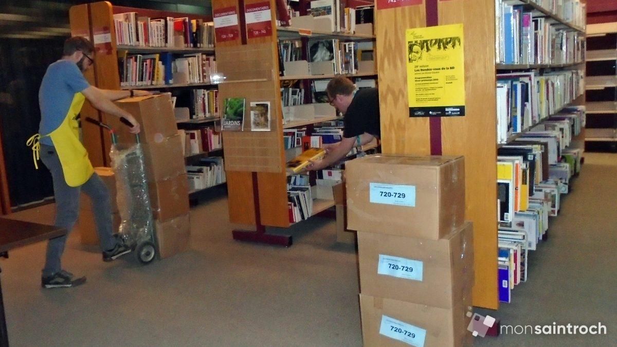 Marathon de déménagement à la bibliothèque Gabrielle-Roy | 3 juin 2019 | Article par Suzie Genest