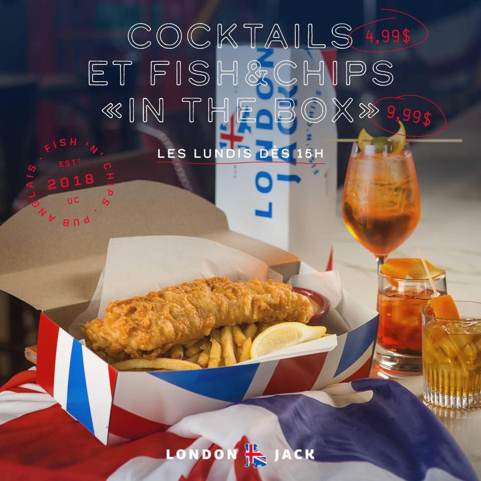 Fish 'n' chips « in the box »   London Jack