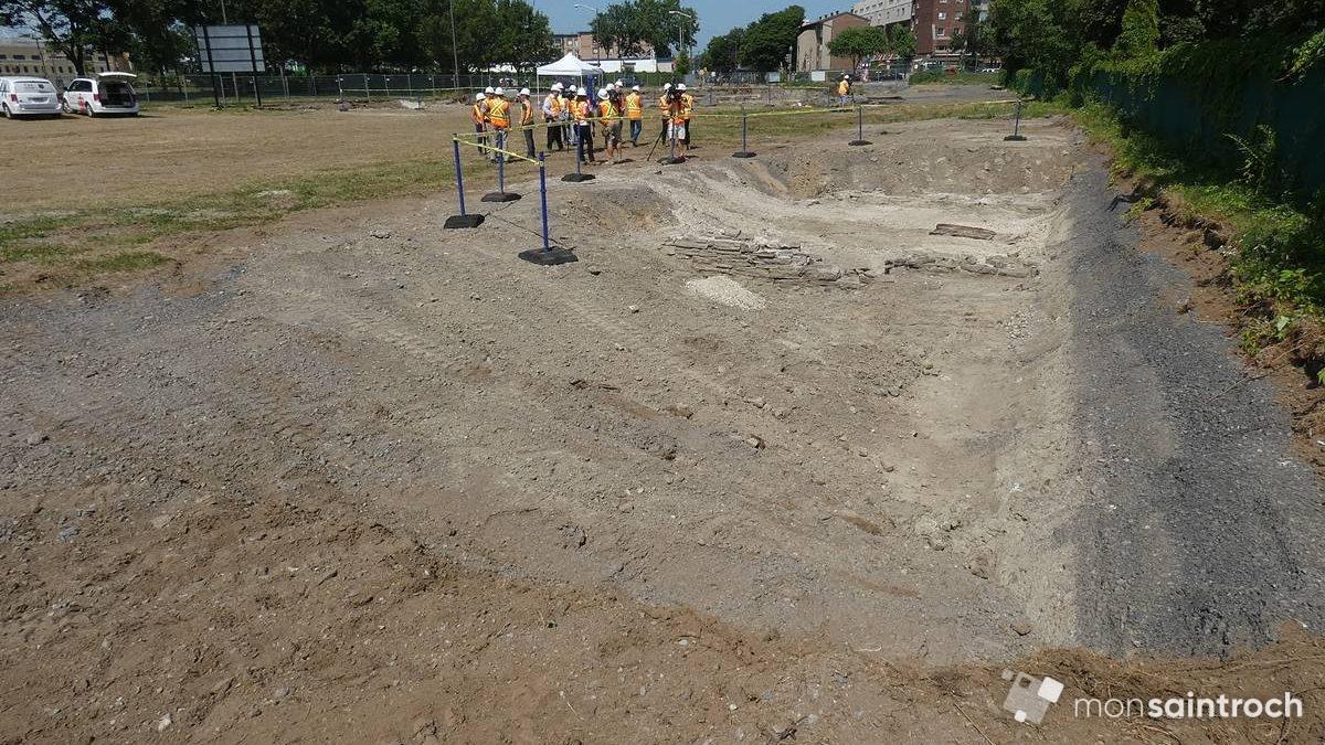 Fouilles archéologiques, zone 2