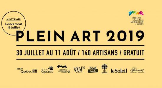 PLEIN ART 2019, Le Salon des métiers d'art de Québec