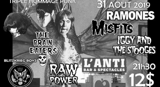 Triple hommage punk avec Raw Power, BlitzKrieg Boys et The Brain