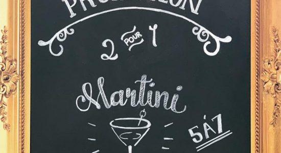 2 pour 1 sur les martinis   London Jack