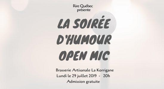 Soirée d'humour – Open Mic