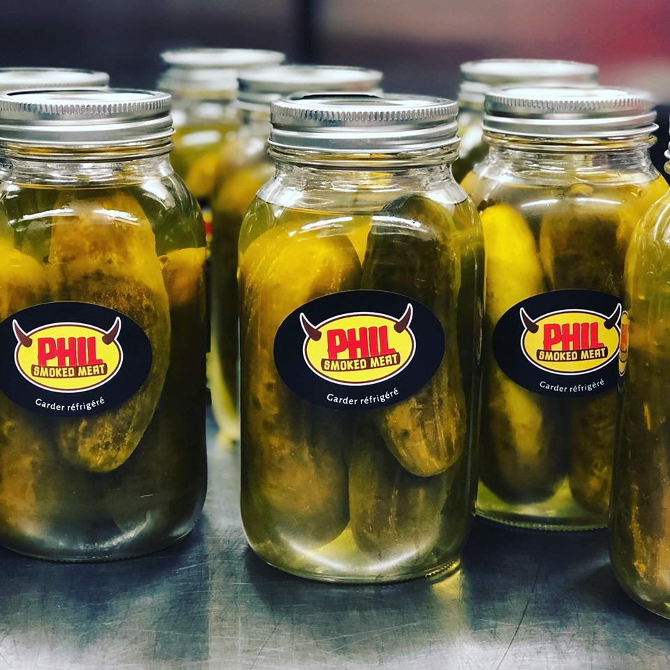 Cornichons Phil Smoked Meat à emporter | Phil Smoked Meat