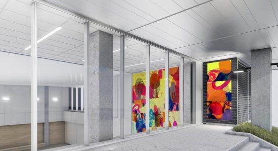 Une oeuvre d'art grandiose au centre YMCA - Amélie Légaré