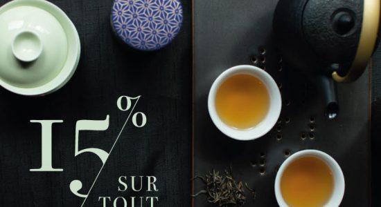 18 et 19 septembre: 15% de rabais sur tout | Camellia Sinensis Maison de thé