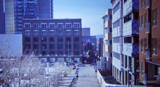 Construction de l'ÉNAP, en mai 2000.