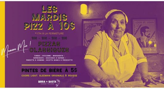 Les mardis «Pizz à 10$» | Birra & Basta