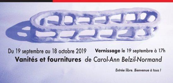 Vernissage de l'exposition « Vanités et fournitures »