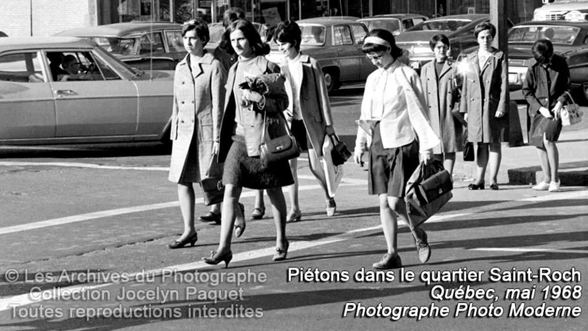 Piétonnes, en mai 1969