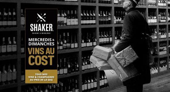 Vin au cost   SHAKER St-Joseph – Cuisine & Mixologie