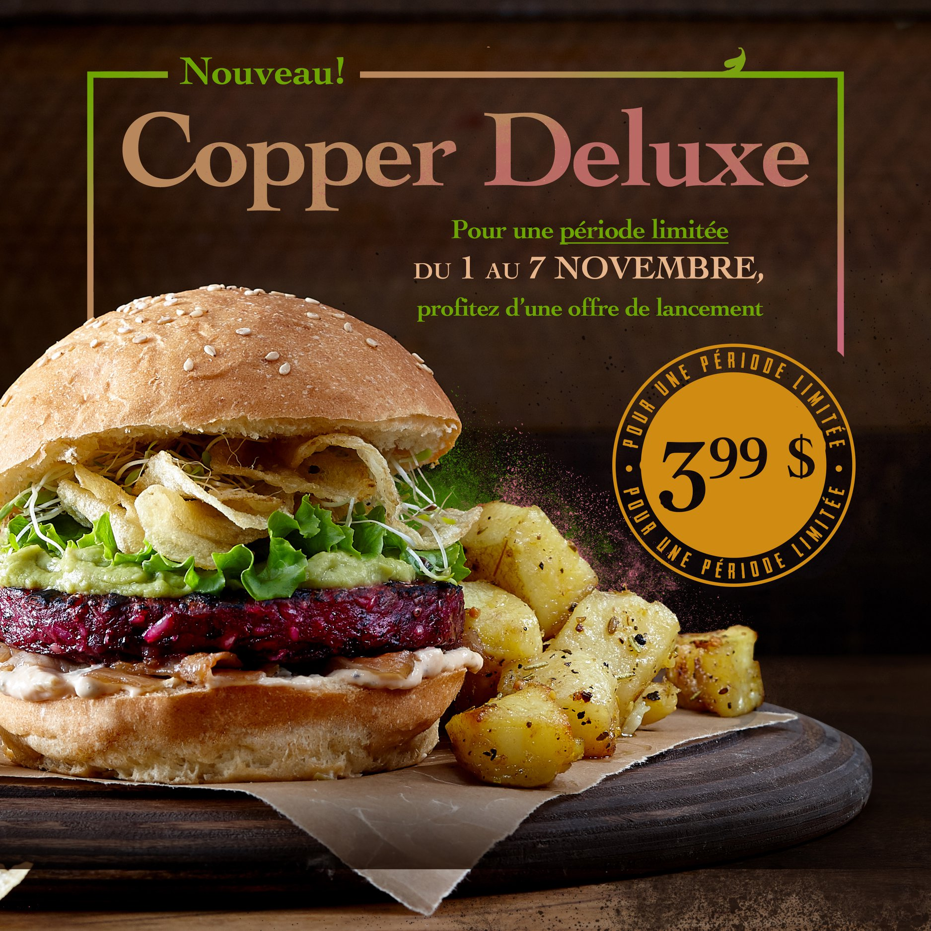 Promotion nouveau Copper Deluxe | Copper Branch