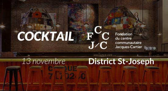 Cocktail dînatoire au profit du Centre Jacques-Cartier