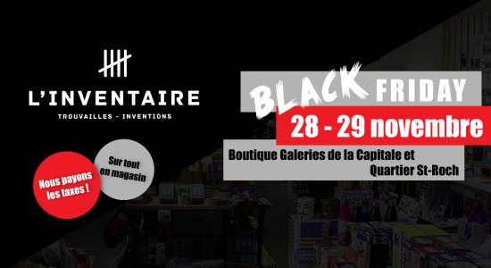 Boutique L'Inventaire – Black Friday   L'Inventaire